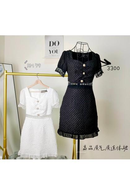 3300- High-quality temperament one-piece dress 高品质气质连体裙