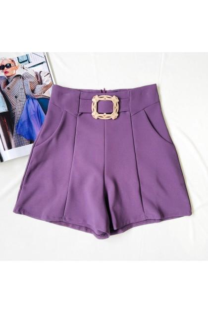 2325 Belt design high waist suit pants 腰带设计高腰西装裤