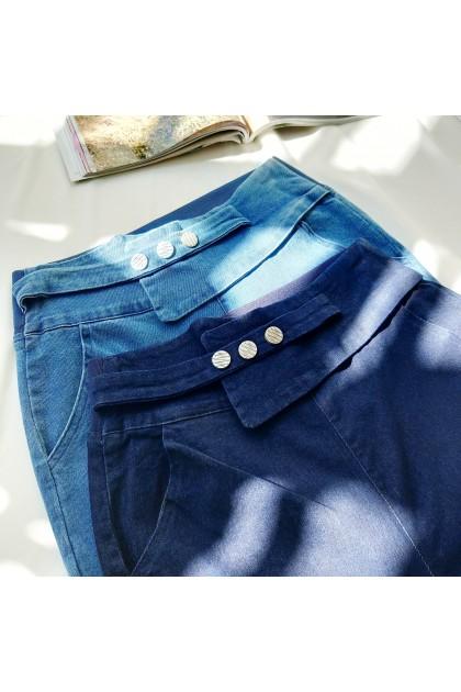 2333  High-waisted stretch denim high-waisted pants 高腰弹力牛仔高腰裤